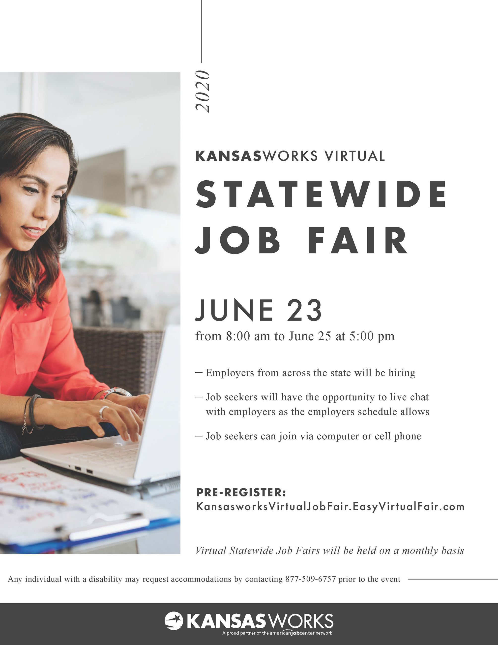 Virtual Statewide Job Fair Flyer - June
