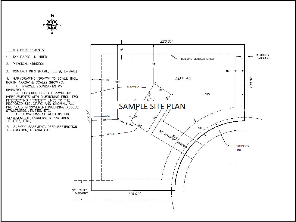 SAMPLE SITE PLAN